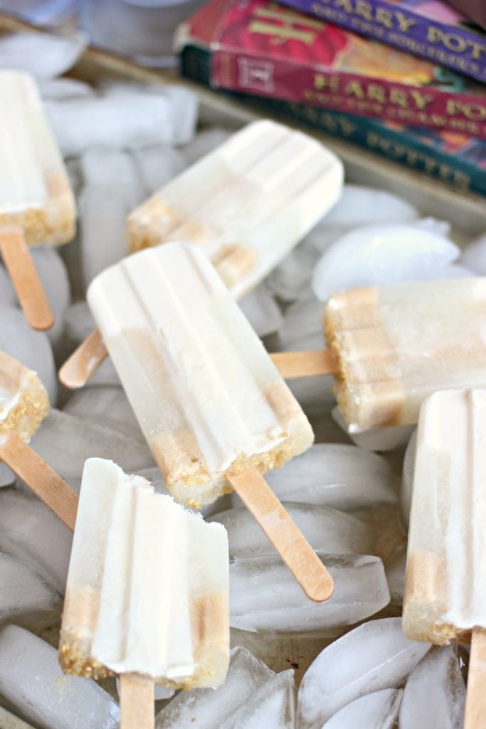 Popsicles Made with Harry Potter Butterbeer