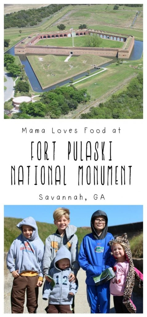 Visiting Fort Pulaski in Savannah Georgia with Kids
