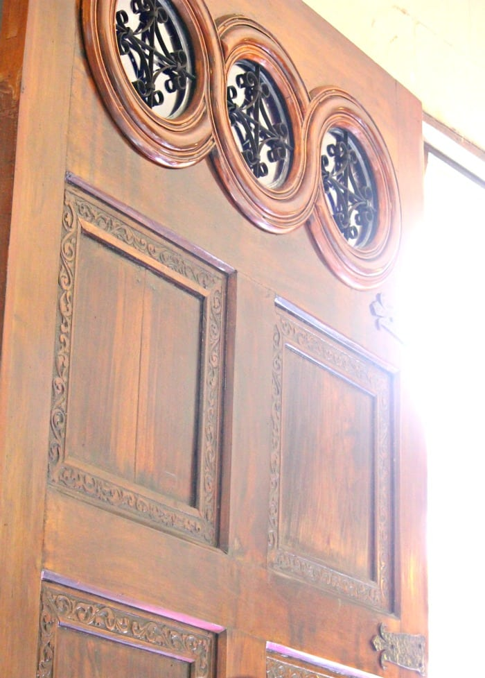massive wooden door in panama city
