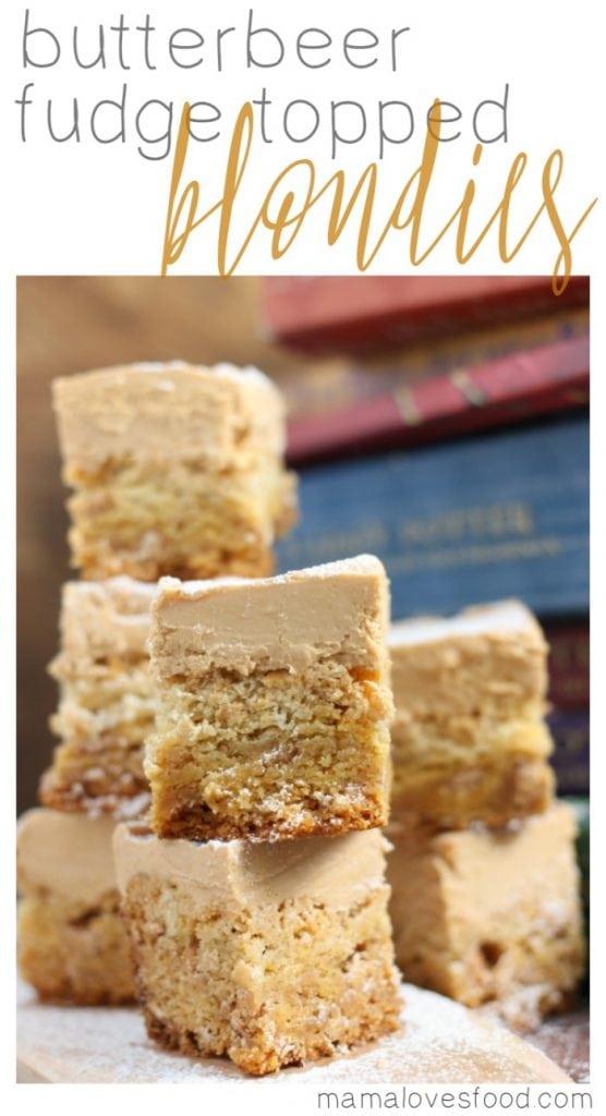 Butterbeer Fudge Blondies Recipe