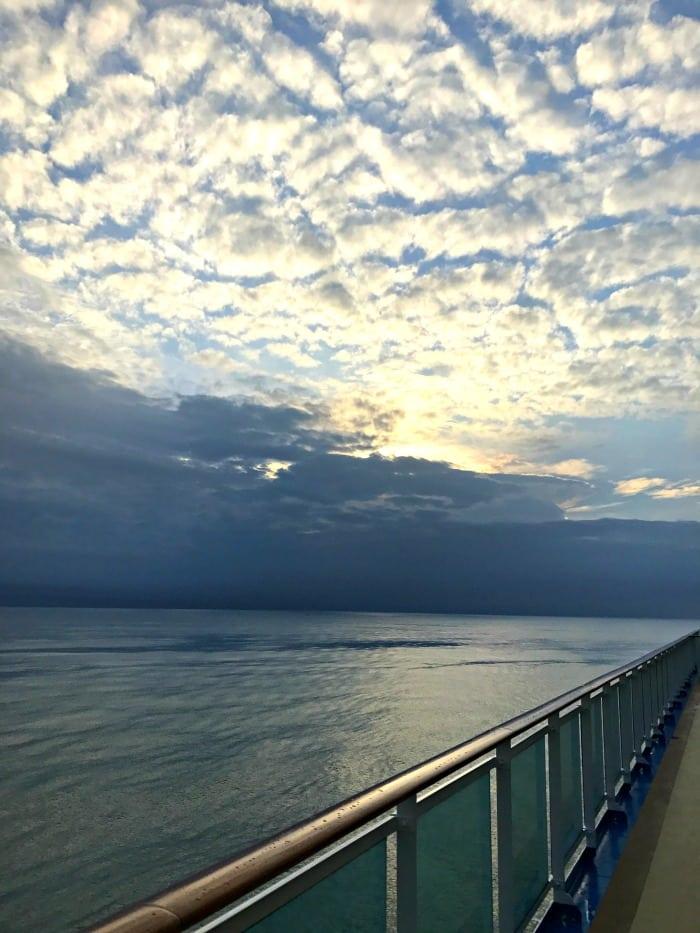 Morning sky pulling into Panama