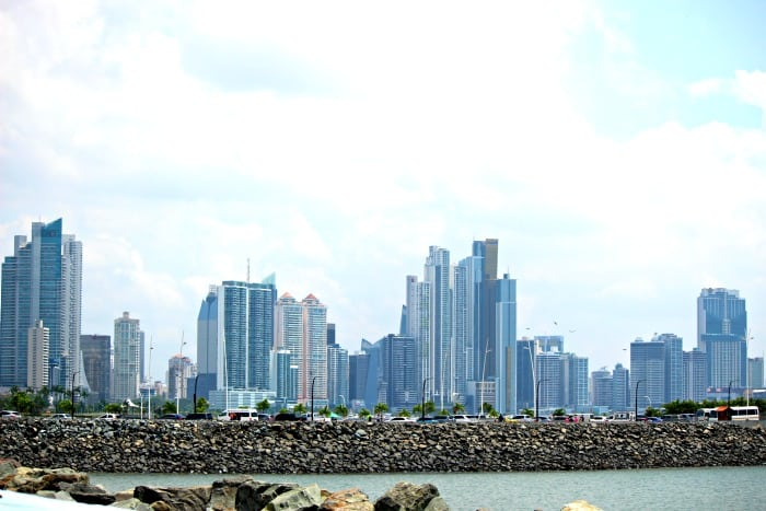 view of new panama skyline