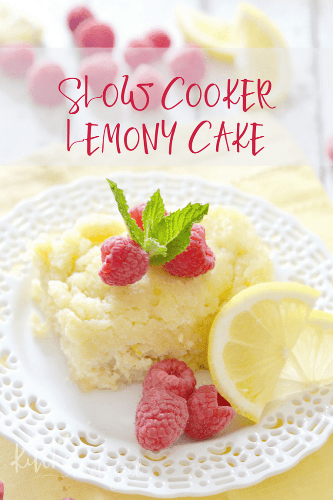 Slow Cooker Lemony Cake