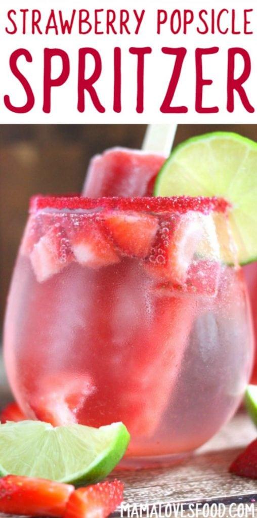 Strawberry Popsicle Spritzer Recipe