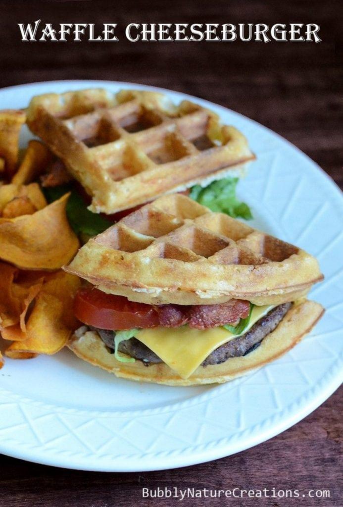 Waffle Cheeseburger