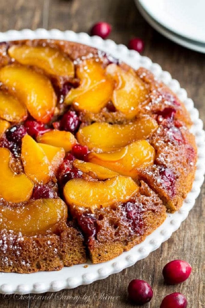 Apple Cranberry Upside Down Coffee Cake