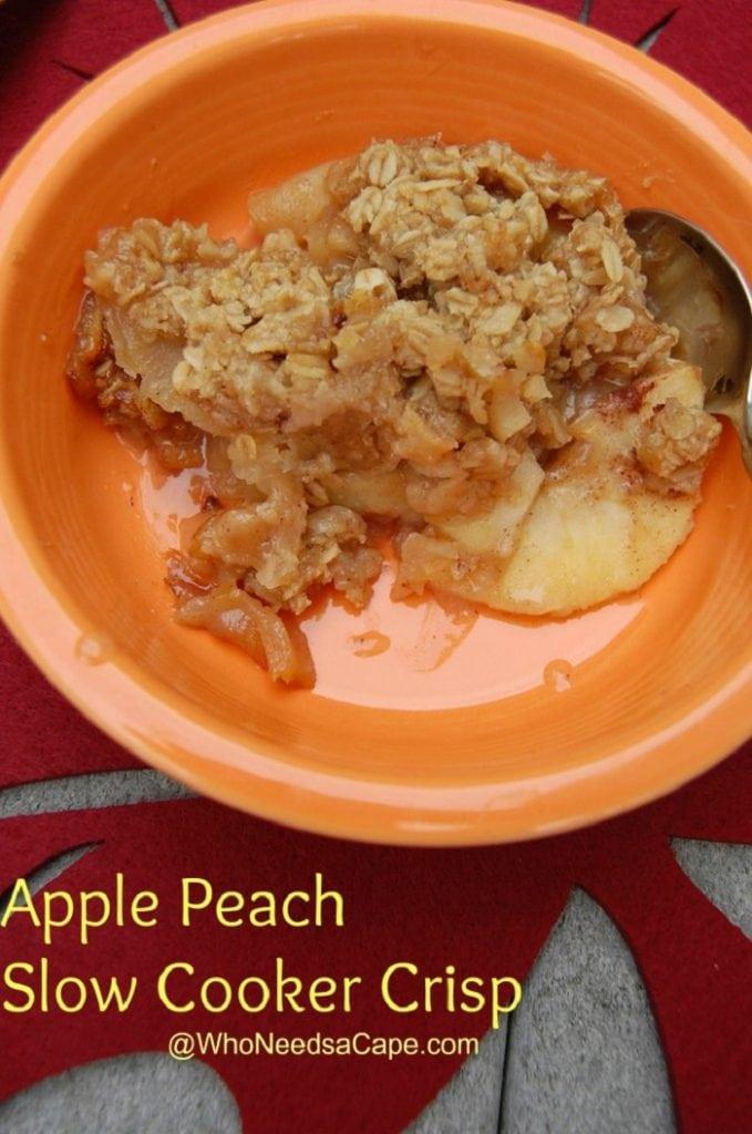 Apple Peach Slow Cooker Crisp