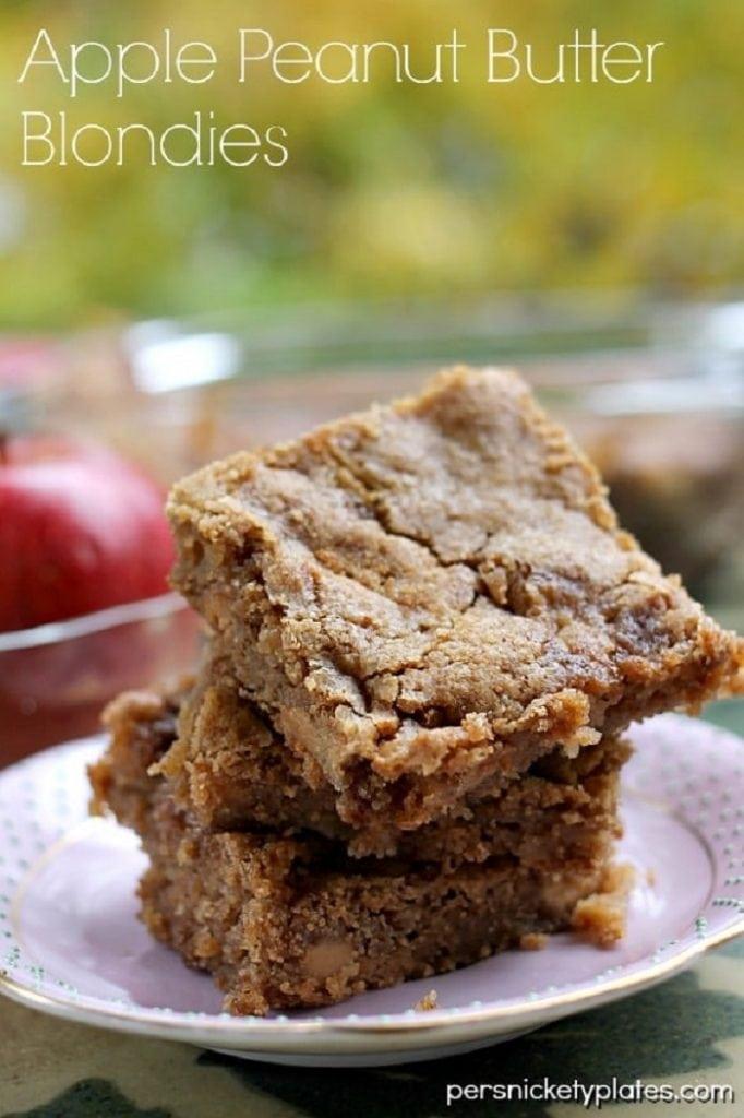 Apple Peanut Butter Blondies