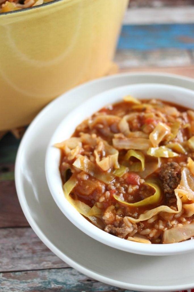 stuffed cabbage casserole tomato soup
