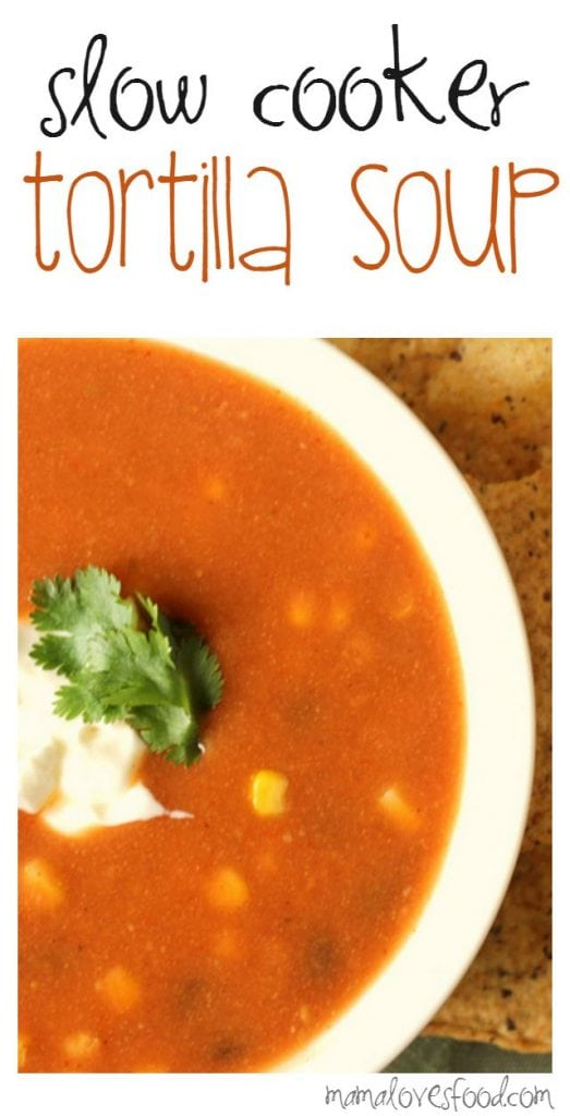 Slow Cooker Tortilla Soup Recipe for Crock Pot
