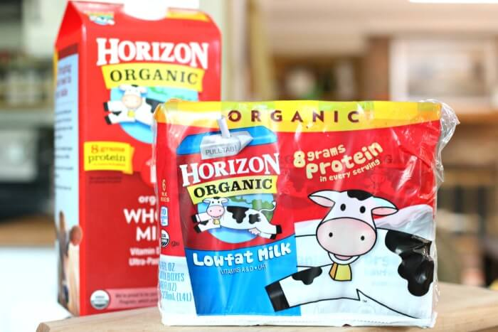 Horizon Shelf Stable Milk and Whole Milk