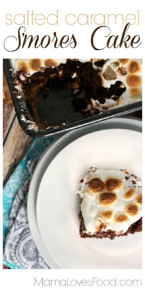Salted Caramel S'mores Cake
