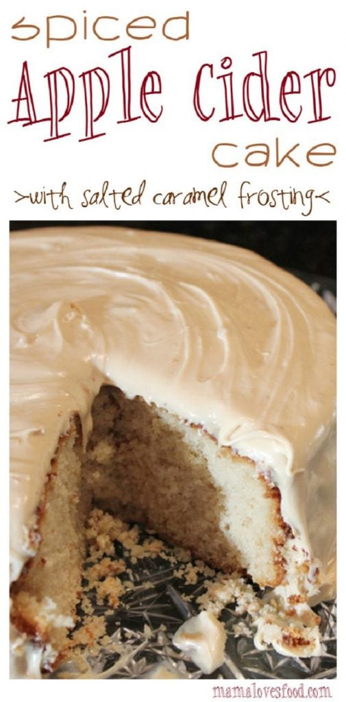 Spiced Apple Cider Cake with Salted Caramel Frosting