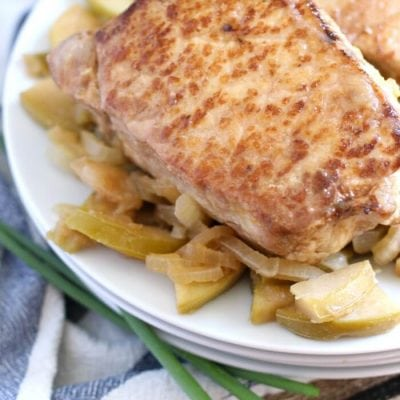 Easy Apple and Onion Roast Pork Chops – How to make Oven Baked Pork Chops with Apples and Onions in the Oven