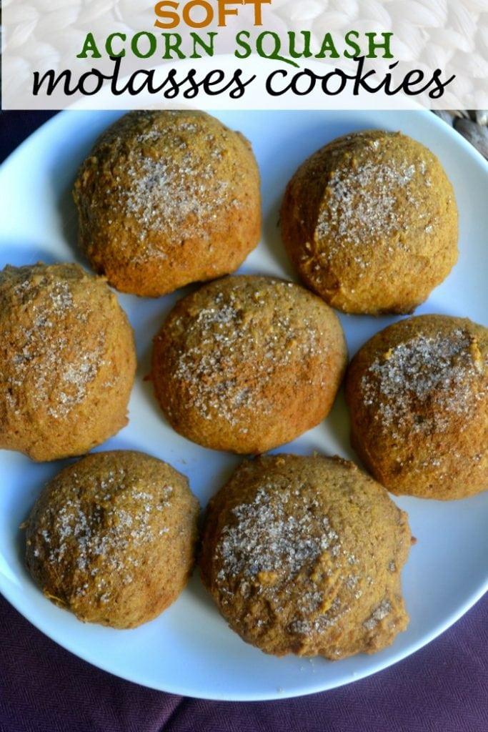 Soft Acorn Squash Molasses Cookies
