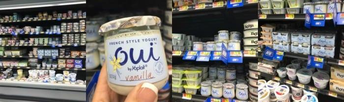Oui Yogurt at Walmart