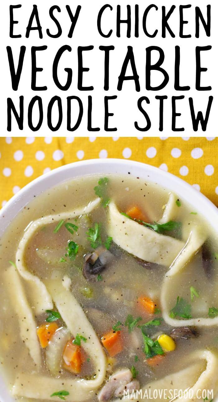 Chicken Noodle Vegetable Stew