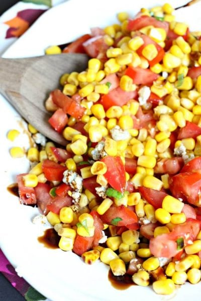 Corn and Tomato Salad – Simple Corn and Tomato Salad with Blue Cheese