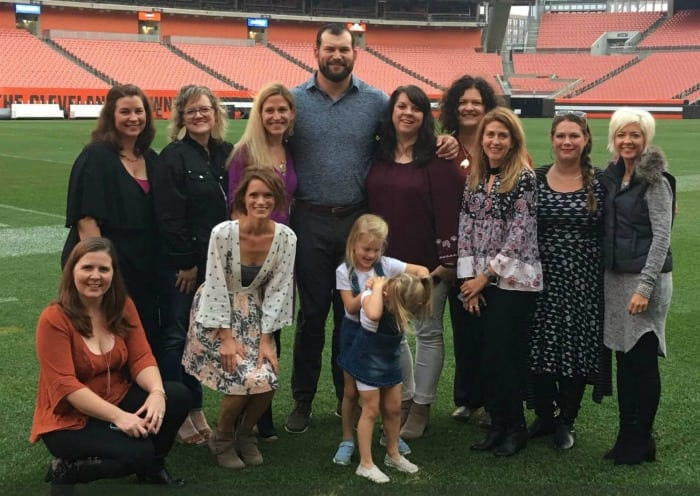 DINNER WITH JOE THOMAS OF THE OHIO BROWNS
