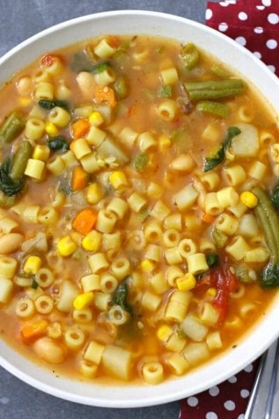 Crock Pot Minestrone Soup – Minestrone Slow Cooker Soup