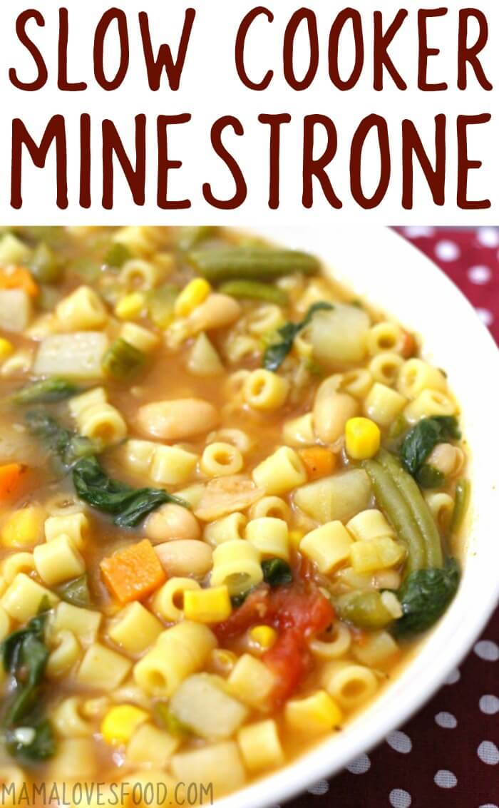 MINESTRONE SOUP CROCK POT