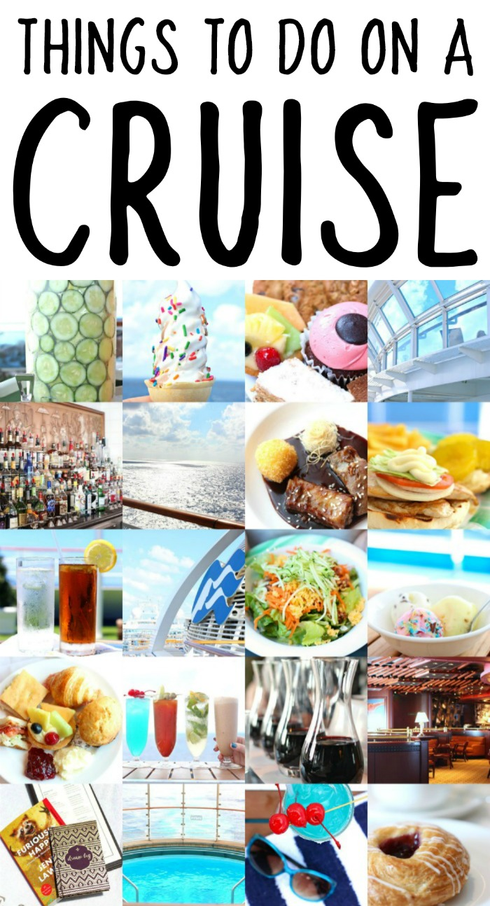 THINGS TO DO YOU YOUR CRUISE SEA DAY