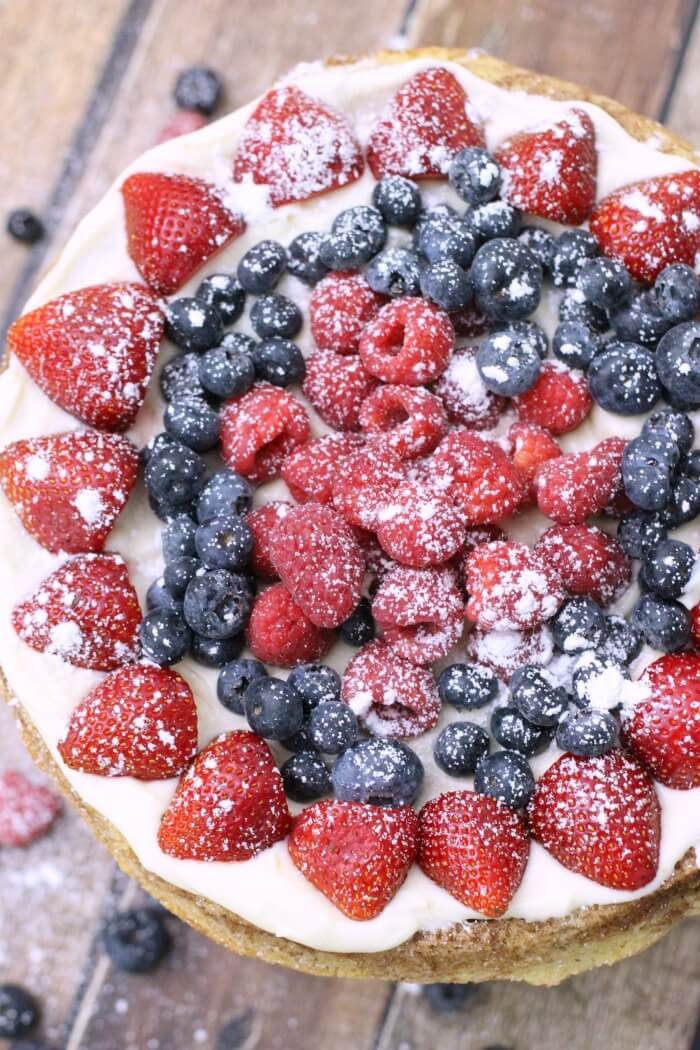 CREAM CHEESE FRUIT PIZZA