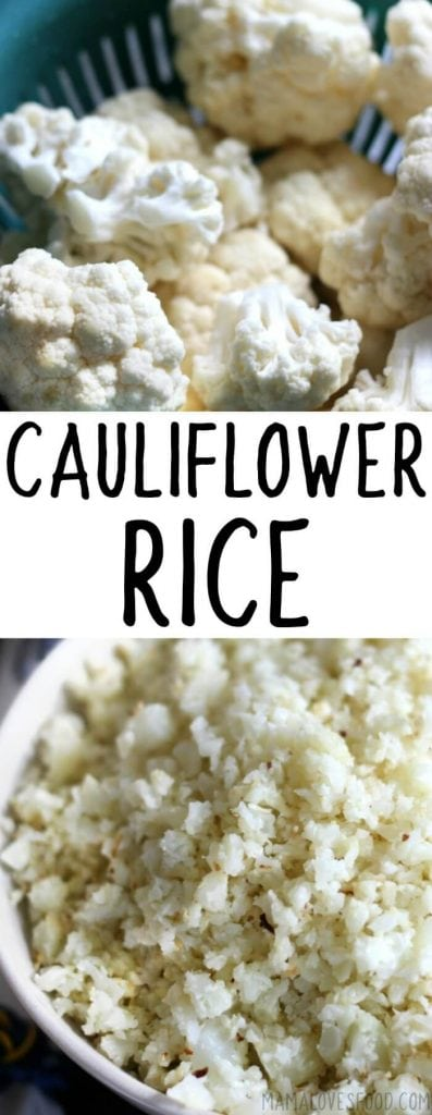 COOKING CAULIFLOWER RICE