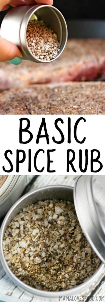 BASIC SPICE RUB RECIPE