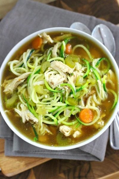 CHICKEN SOUP WITH ZOODLES