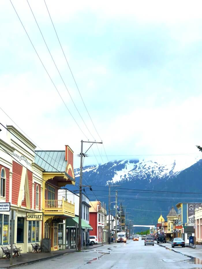 SKAGWAY ALASKA DOWNTOWN