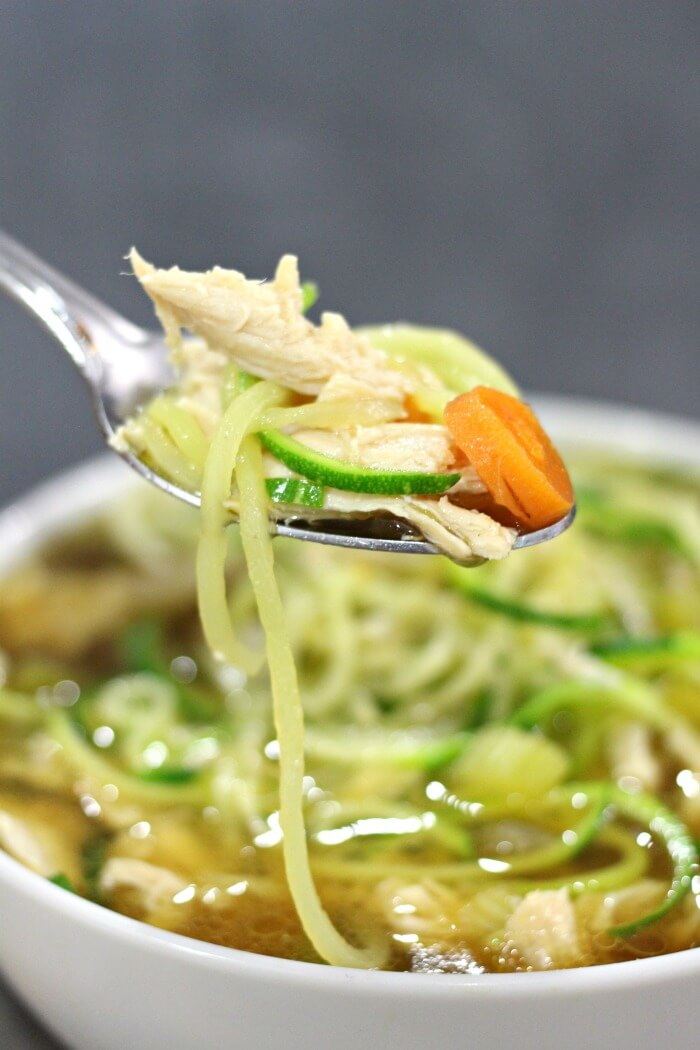 ZOODLE SOUP WITH CHICKEN
