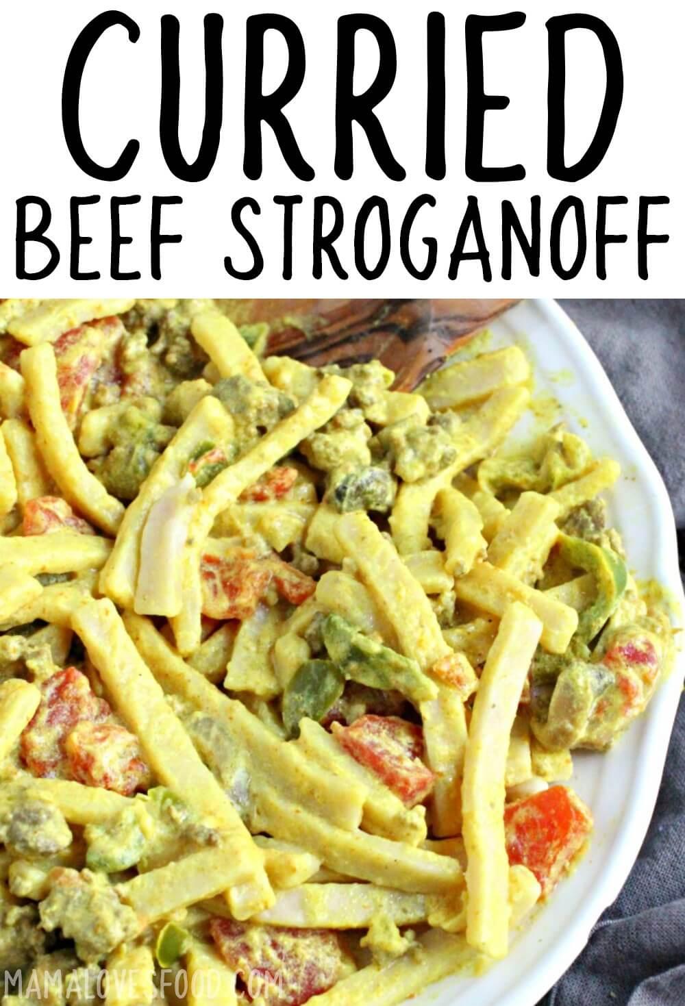 CURREIED BEEF STROGANOFF