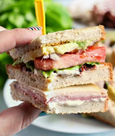 CLUB SANDWICH WITH AVOCADO