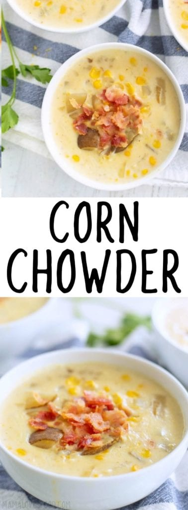 CORN CHOWDER WITH POTATO
