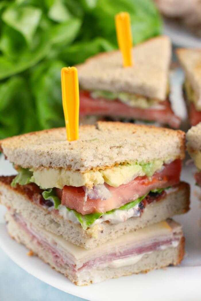 Club Sandwich Mama Loves Food
