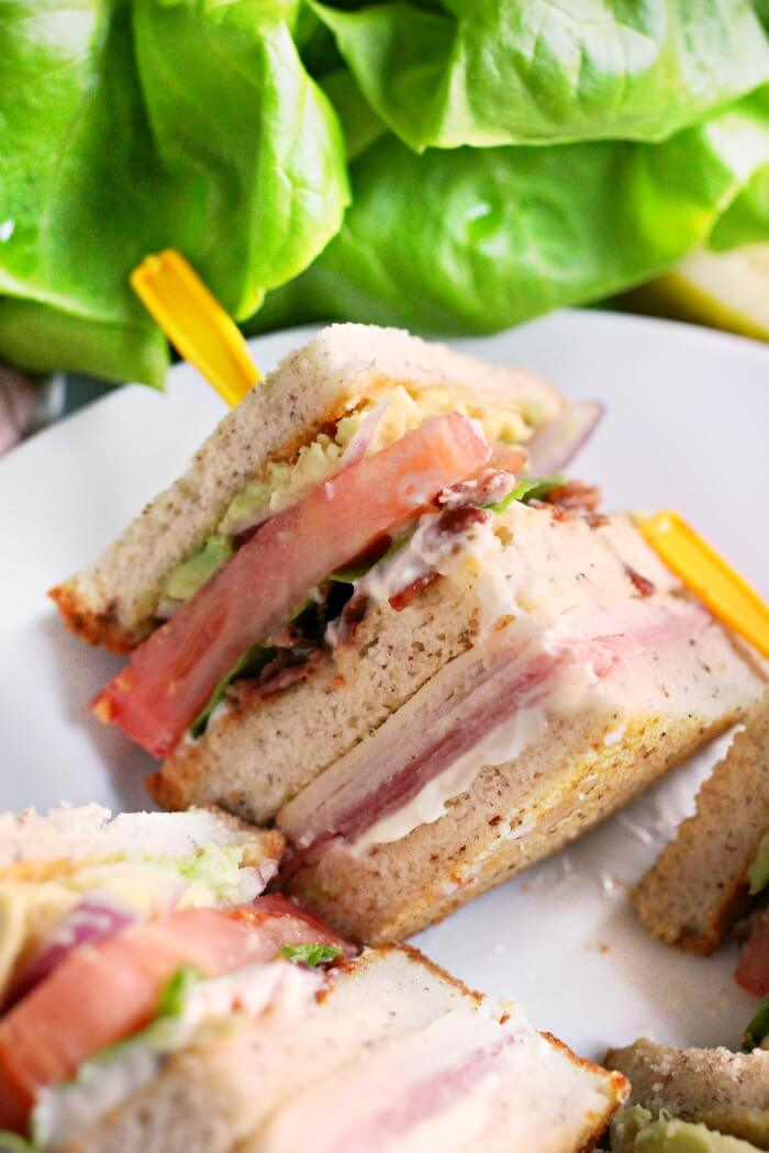 TURKEY AND HAM CLUB SANDWICH