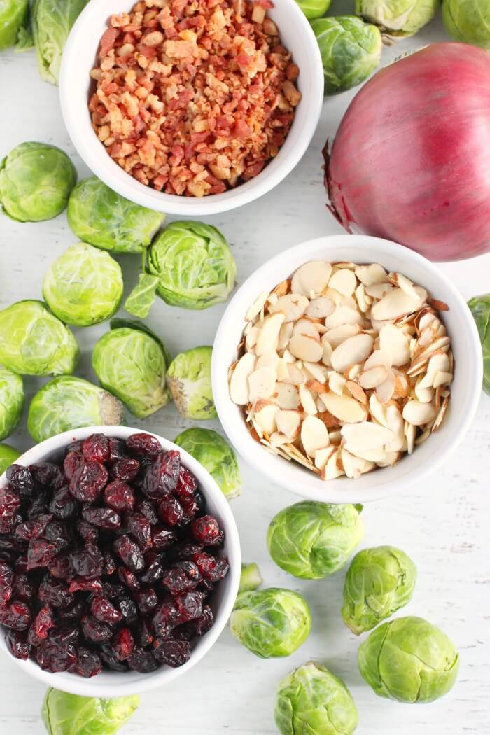 BRUSSEL SPROUT SALAD INGREDIENTS