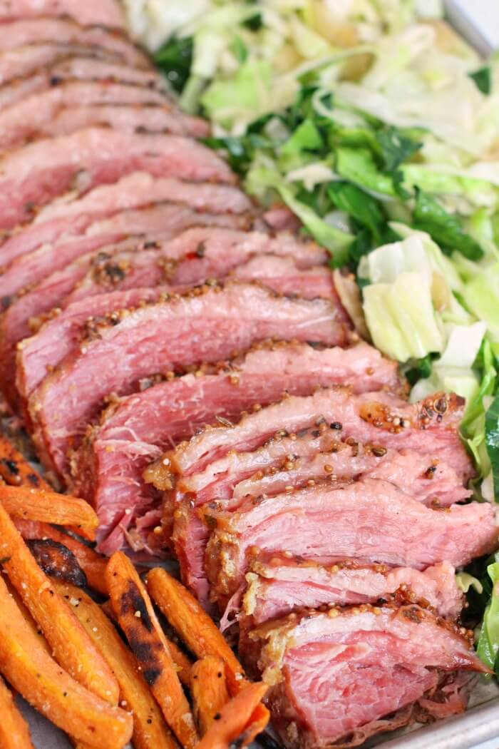 CORNED BEEF AND CABBAGE IN THE OVEN