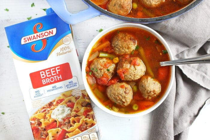MEATBALL SOUP WITH SWANSONS