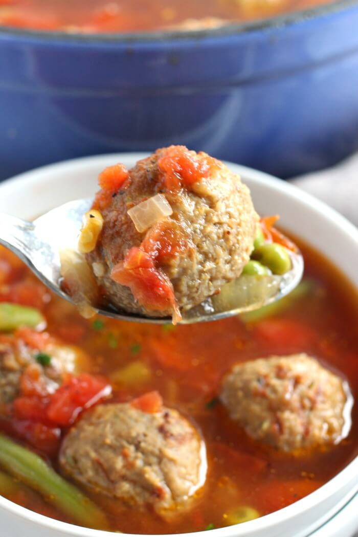 SIMPLE MEATBALL SOUP