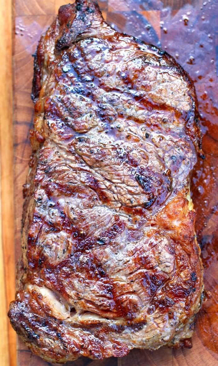 Rib Eye Steak Perfectly Grilled Mama Loves Food