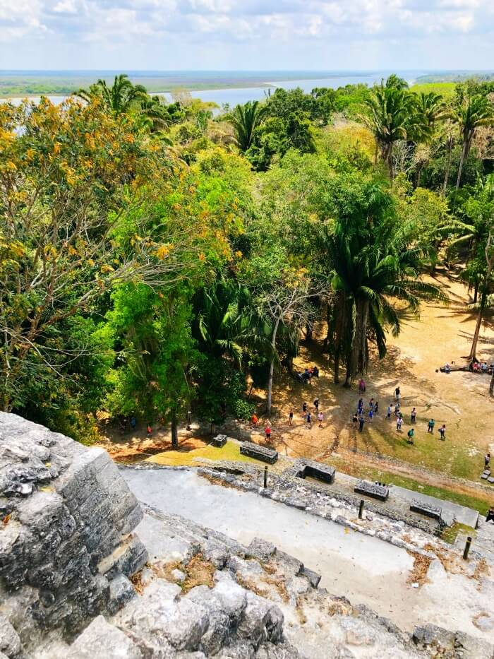 VIEW FROM TOP OF MAYAN RUINS