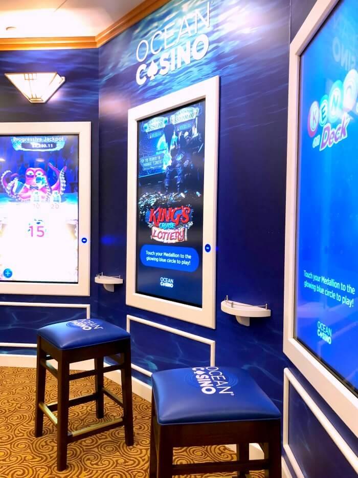 INTERACTIVE GAMBLING SCREENS ON PRINCESS CRUISE