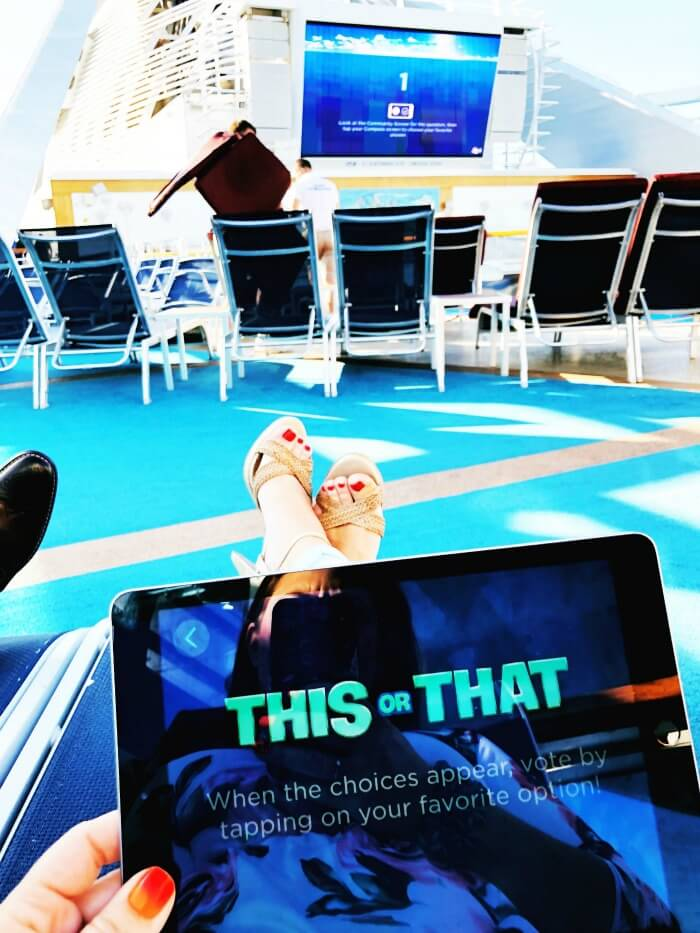 PLAYING INTERACTIVE GAMES ON CRUISE SHIP WITH WIFI