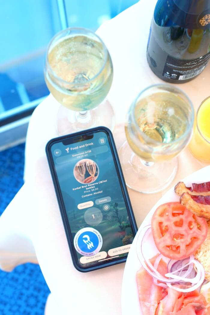 ORDERING CHAMPAGNE ON CRUISE SHIP WITH WIFI