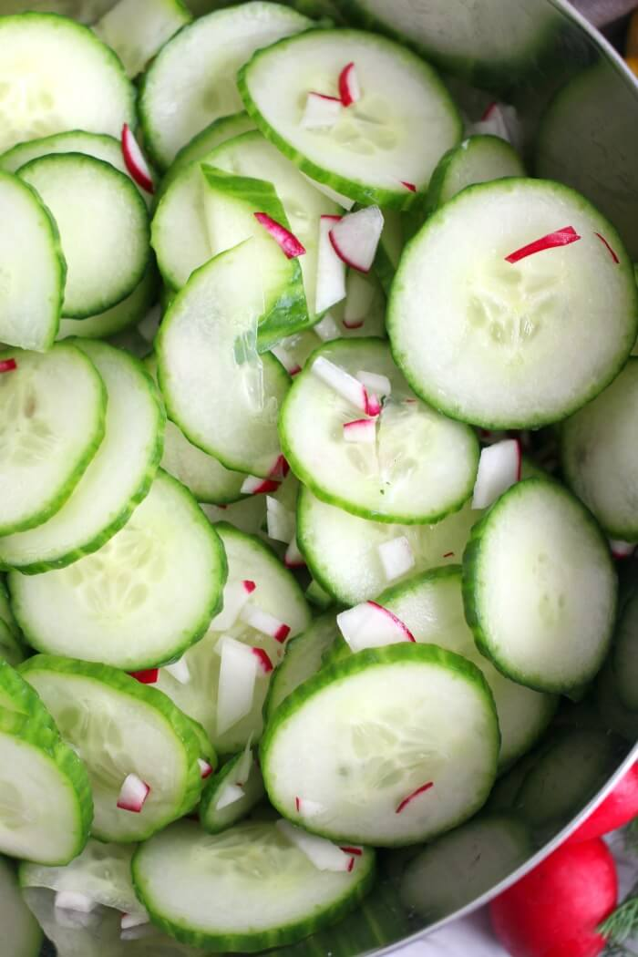 CUCUMBER SALAD WITHOUT DRESSING