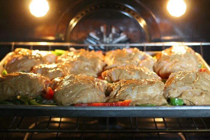 PEANUT BUTTER CHICKEN IN THE OVEN