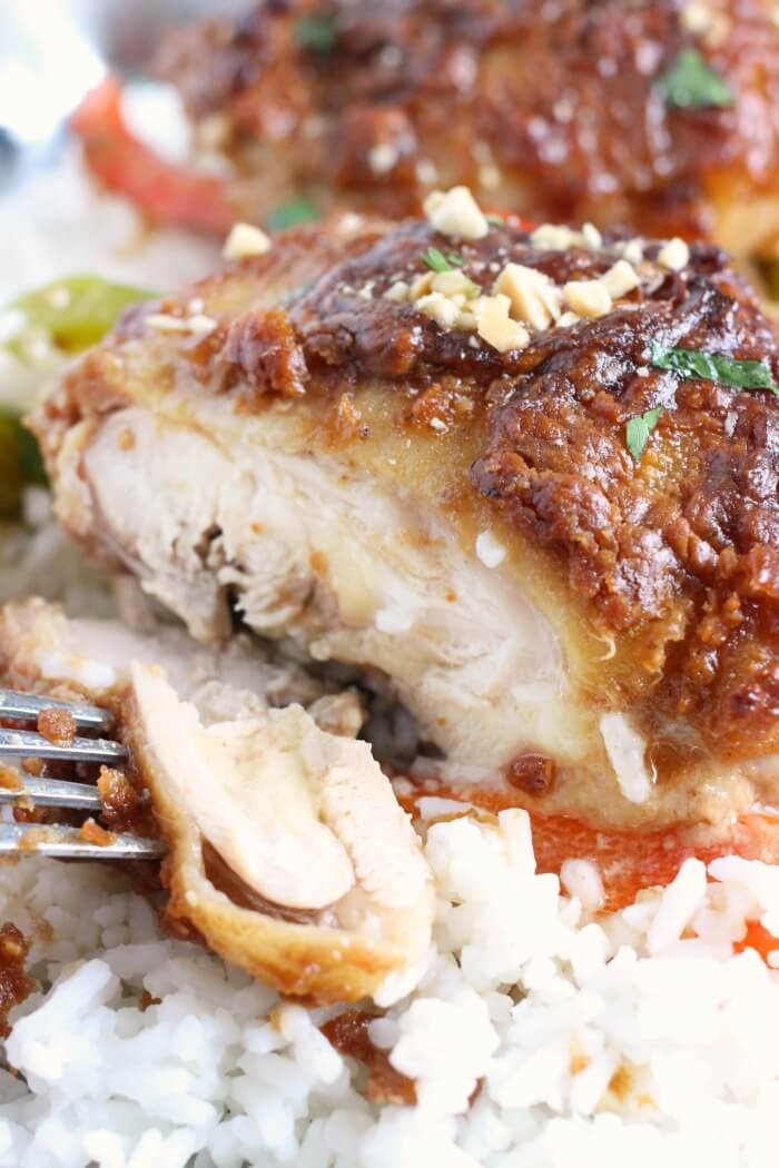 PEANUT BUTTER CHICKEN THIGHS