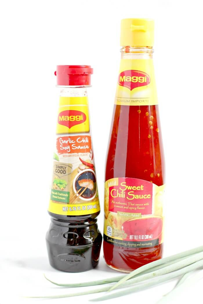 SWEET CHILI SAUCE AND SPICY SOY SAUCE